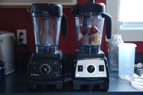 Vitamix 7500 (left) and Professional Series 300 (right)