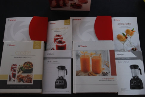 The cookbook, getting started guide and owner's manual for the Professional Series 300 and Vitamix 7500