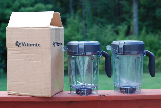 New and Old Blender Container