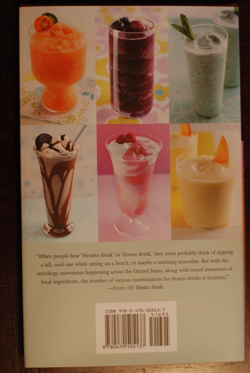 101 Blender Drinks book back cover